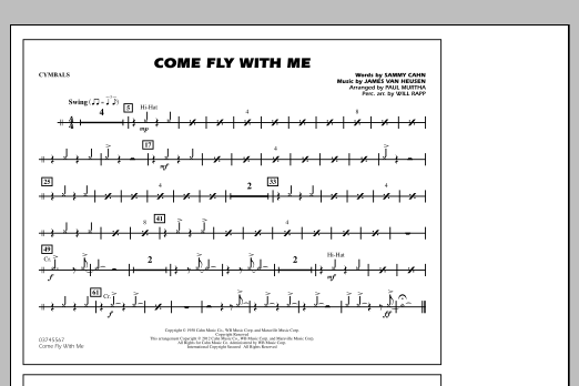 Come Fly With Me - Cymbals (Marching Band)