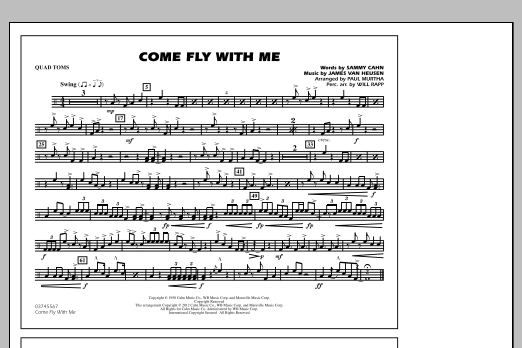 Come Fly With Me - Quad Toms (Marching Band)