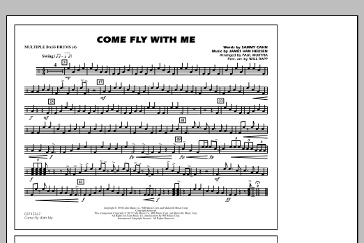 Come Fly With Me - Multiple Bass Drums (Marching Band)