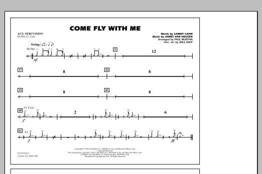 Come Fly With Me - Aux Percussion (Marching Band)