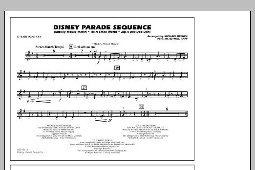 Disney Parade Sequence - Eb Baritone Sax (Marching Band)