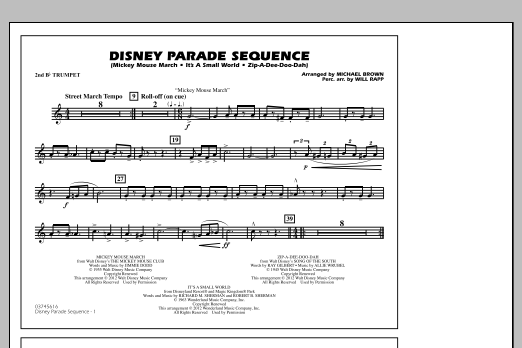 Disney Parade Sequence - 2nd Bb Trumpet (Marching Band)