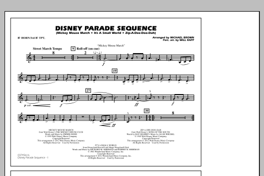Disney Parade Sequence - Bb Horn/3rd Bb Tpt (Marching Band)