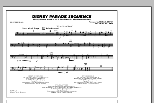 Disney Parade Sequence - Electric Bass (Marching Band)