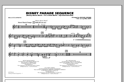 Disney Parade Sequence - Bells/Xylophone (Marching Band)