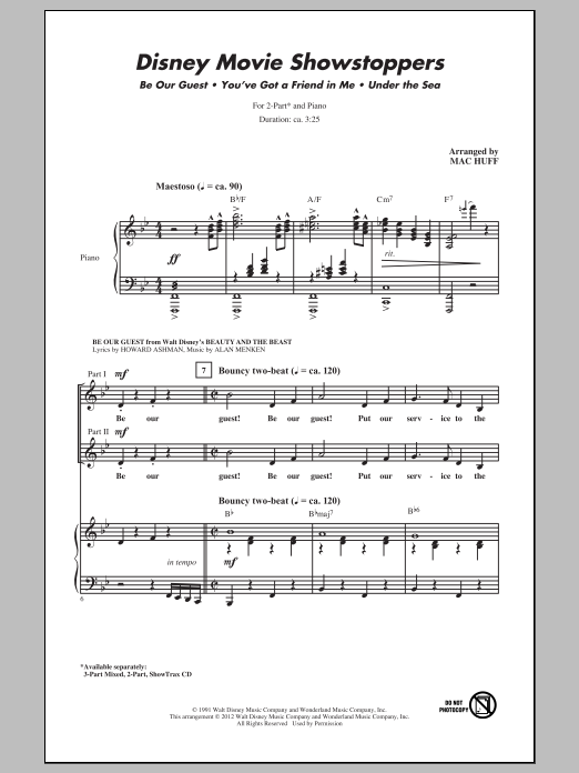 Disney Movie Showstoppers Sheet Music