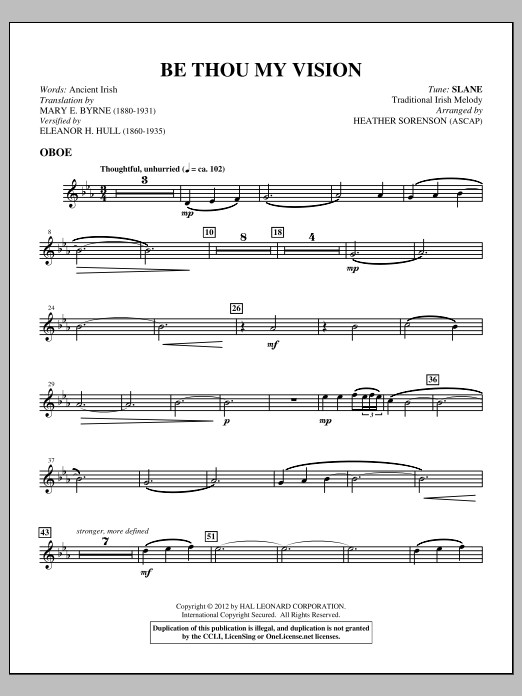 Be Thou My Vision (complete set of parts) sheet music for orchestra/band (Strings) by Heather Sorenson. Score Image Preview.