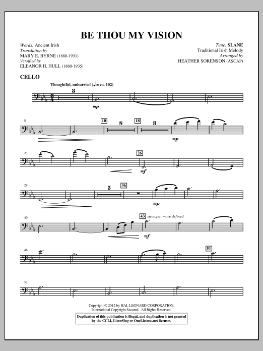 Be thou my vision piano Solo sheet music Be Thou My Vision Lyrics ...