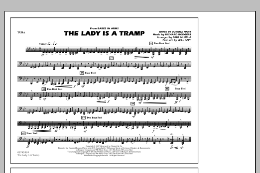 The Lady Is A Tramp - Tuba (Marching Band)
