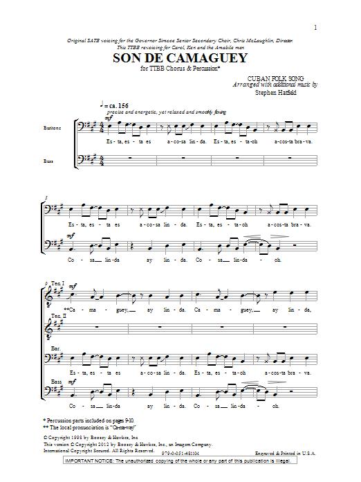 Son De Camaguey (TTBB Choir)