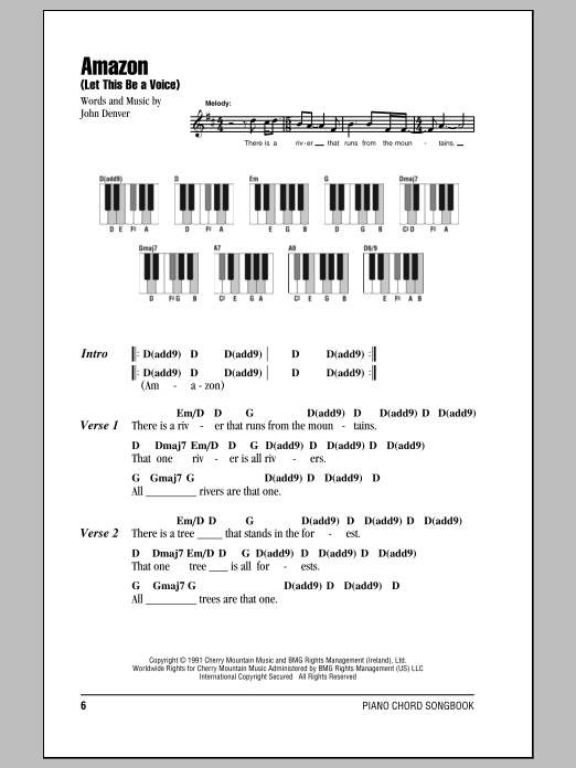Amazon Let This Be A Voice Sheet Music John Denver Lyrics