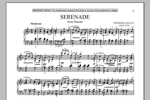 Hassan, Serenade Sheet Music
