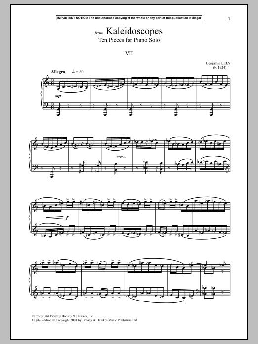 Kaleidoscopes, Ten Pieces For Piano Solo, VII. (Piano Solo)
