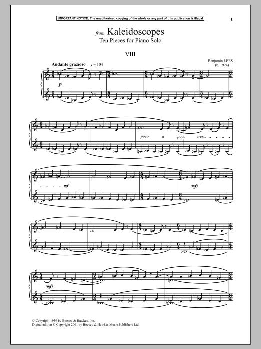 Kaleidoscopes, Ten Pieces For Piano Solo, VII. Sheet Music