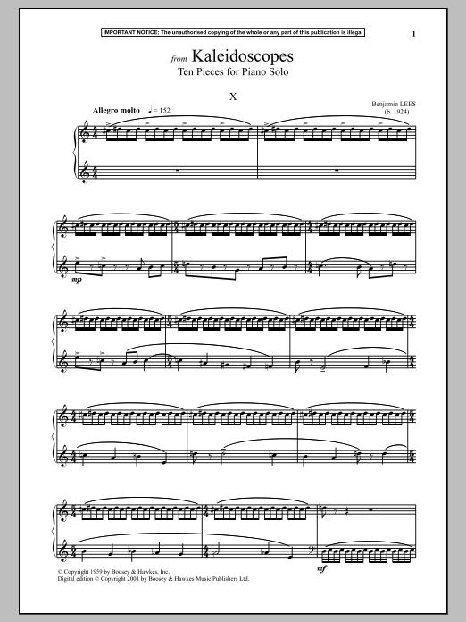 Kaleidoscopes, Ten Pieces For Piano Solo, X. Sheet Music