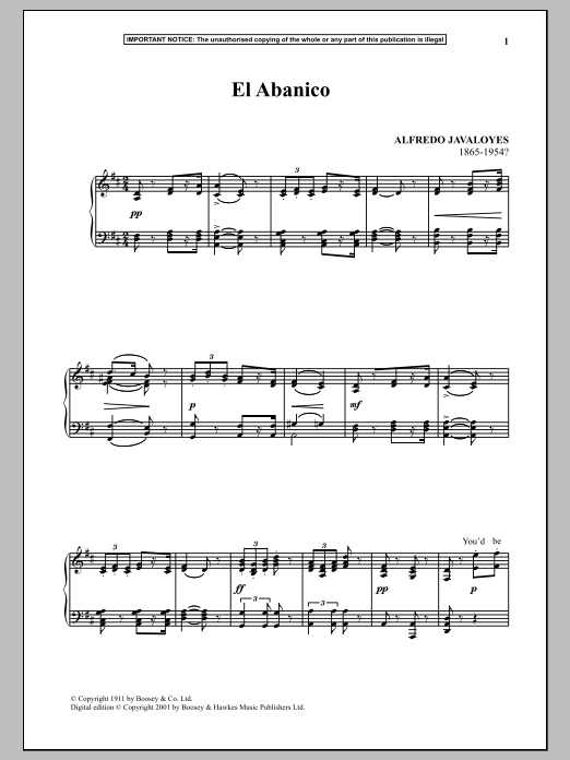 El Abanico Sheet Music