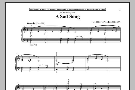 A Sad Song (Piano Solo)