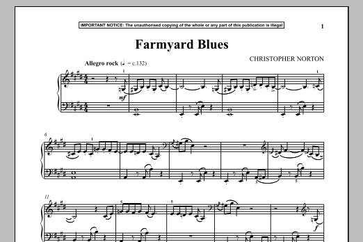 Farmyard Blues (Piano Solo)