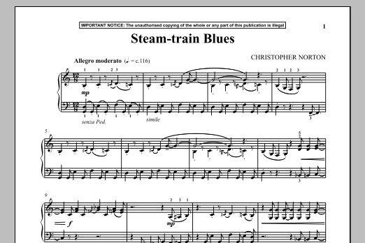 Steam Train Blues (Piano Solo)