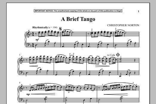 A Brief Tango (Piano Solo)