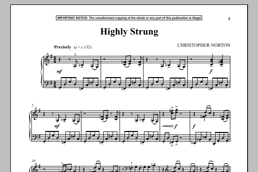 Highly Strung (Piano Solo)