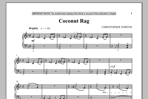 Coconut Rag (Piano Solo)