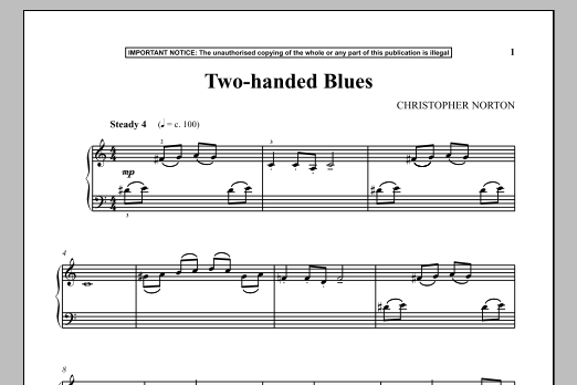 Two-Handed Blues (Piano Solo)