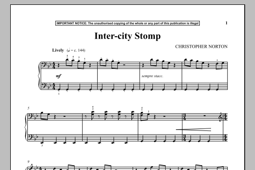 Inter-City Stomp (Piano Solo)