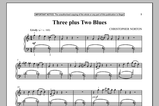 Three Plus Two Blues (Piano Solo)