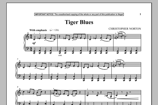 Tiger Blues (Piano Solo)