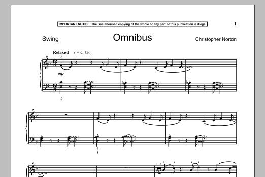Omnibus (Piano Solo)