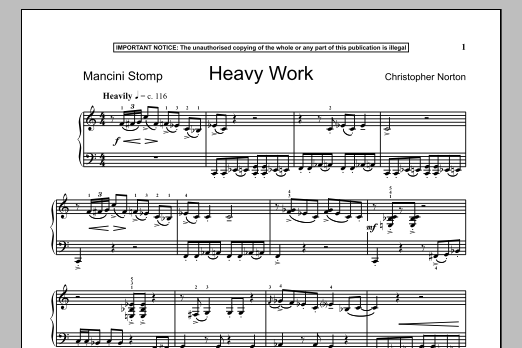 Heavy Work (Piano Solo)