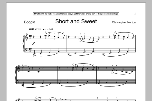 Short And Sweet (Piano Solo)