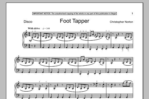 Foot Tapper (Piano Solo)