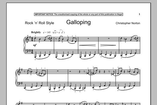 Galloping (Piano Solo)