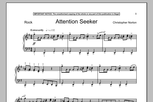 Attention Seeker (Piano Solo)