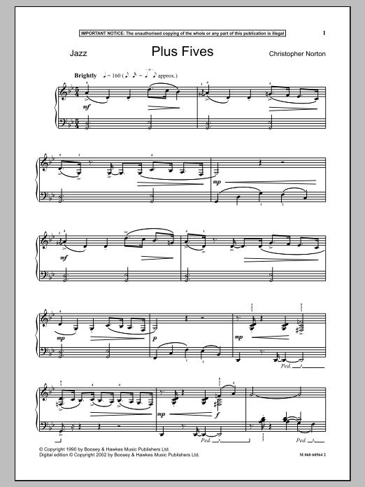 Plus Fives (Piano Solo)