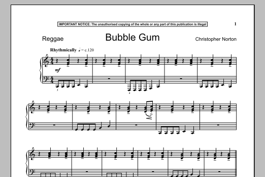 Bubble Gum Sheet Music
