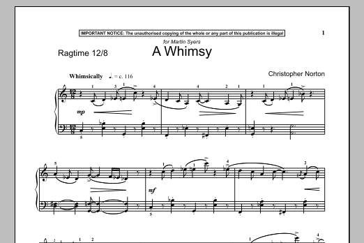 A Whimsy (Piano Solo)