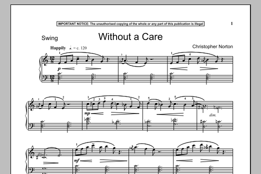 Without A Care (Piano Solo)