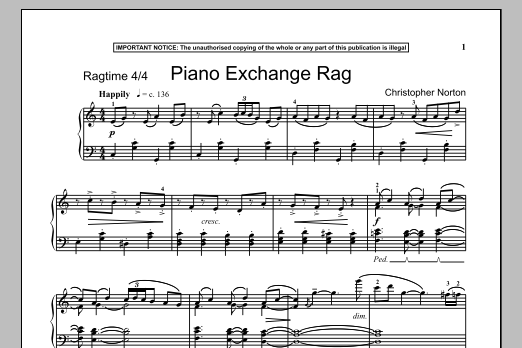 Piano Exchange Rag (Piano Solo)