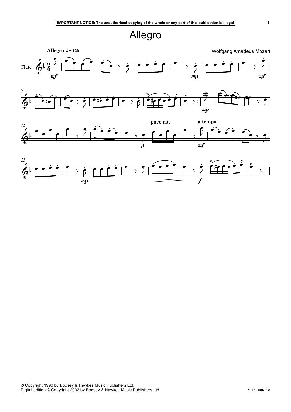 Allegro Sheet Music