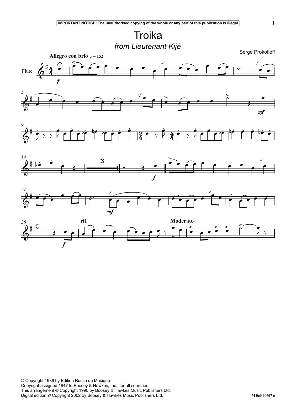 Troika (from Lieutenant Kije) (Instrumental Solo)
