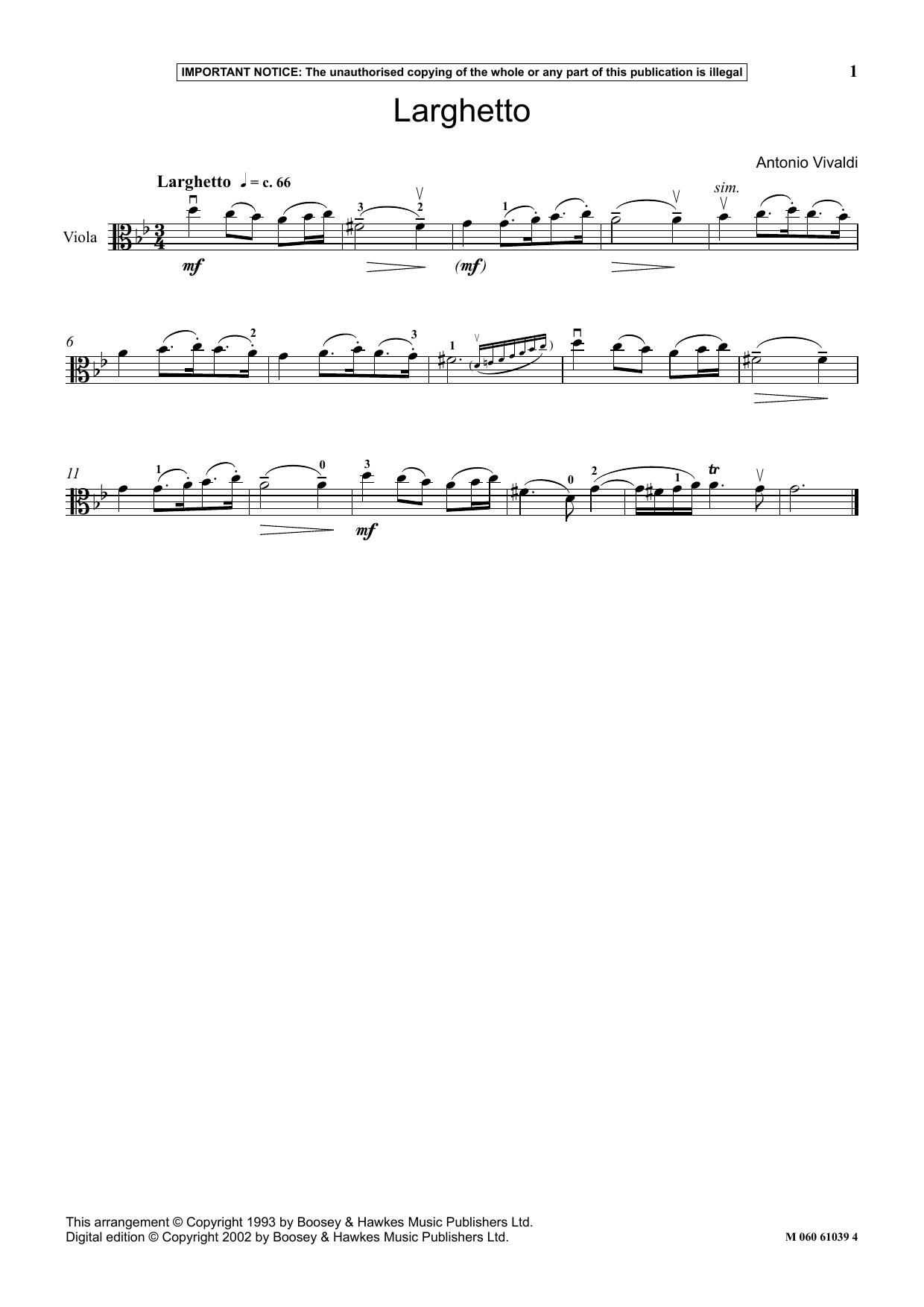 Larghetto (Instrumental Solo)