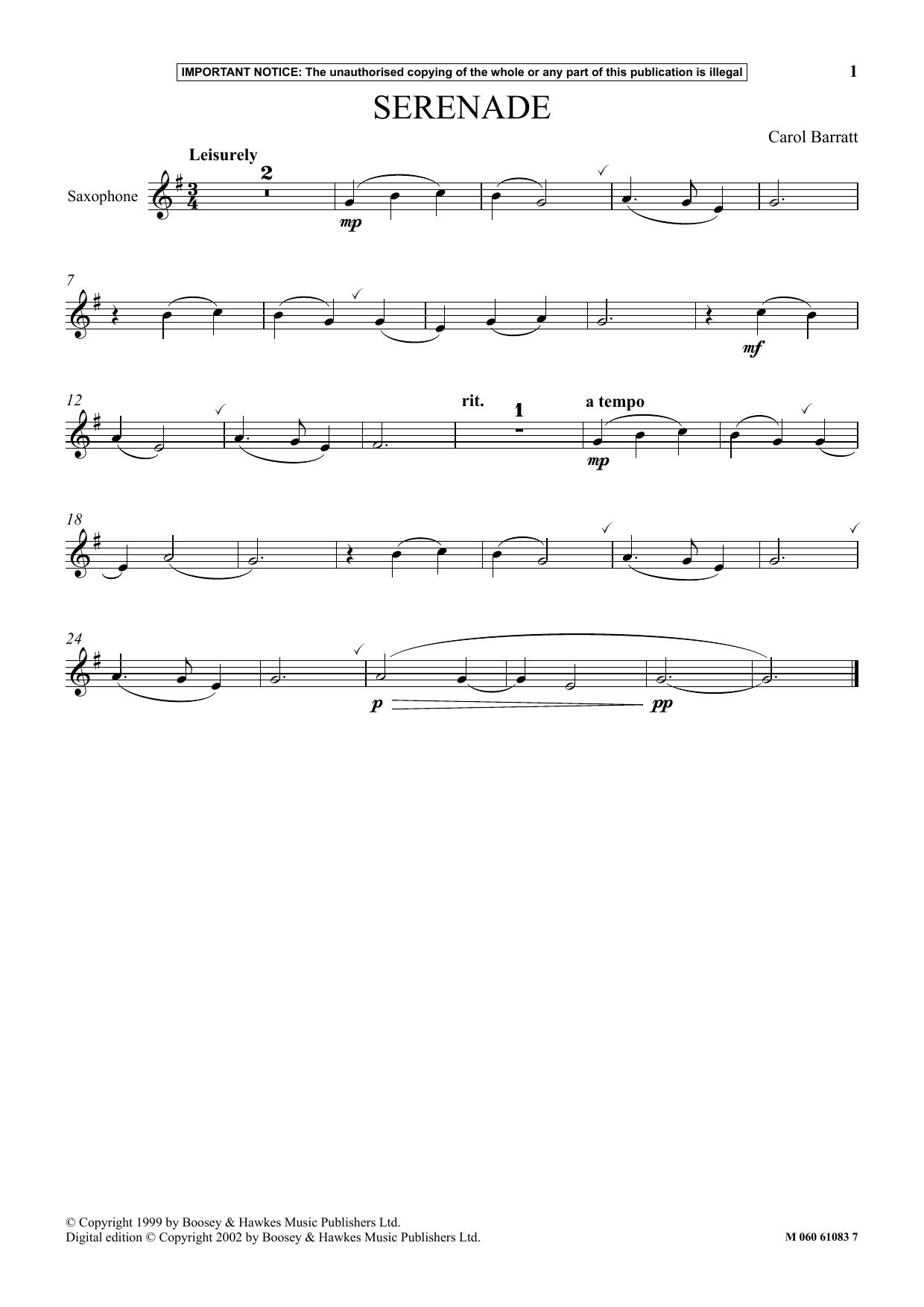 Serenade (Instrumental Solo)