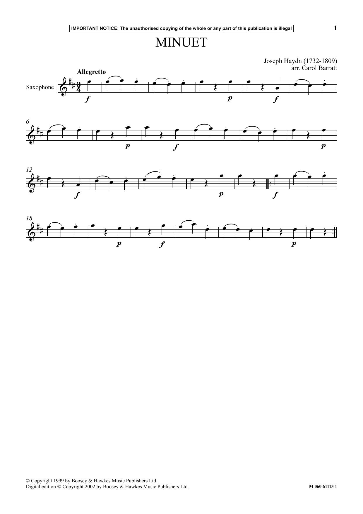 Minuet (Instrumental Solo)