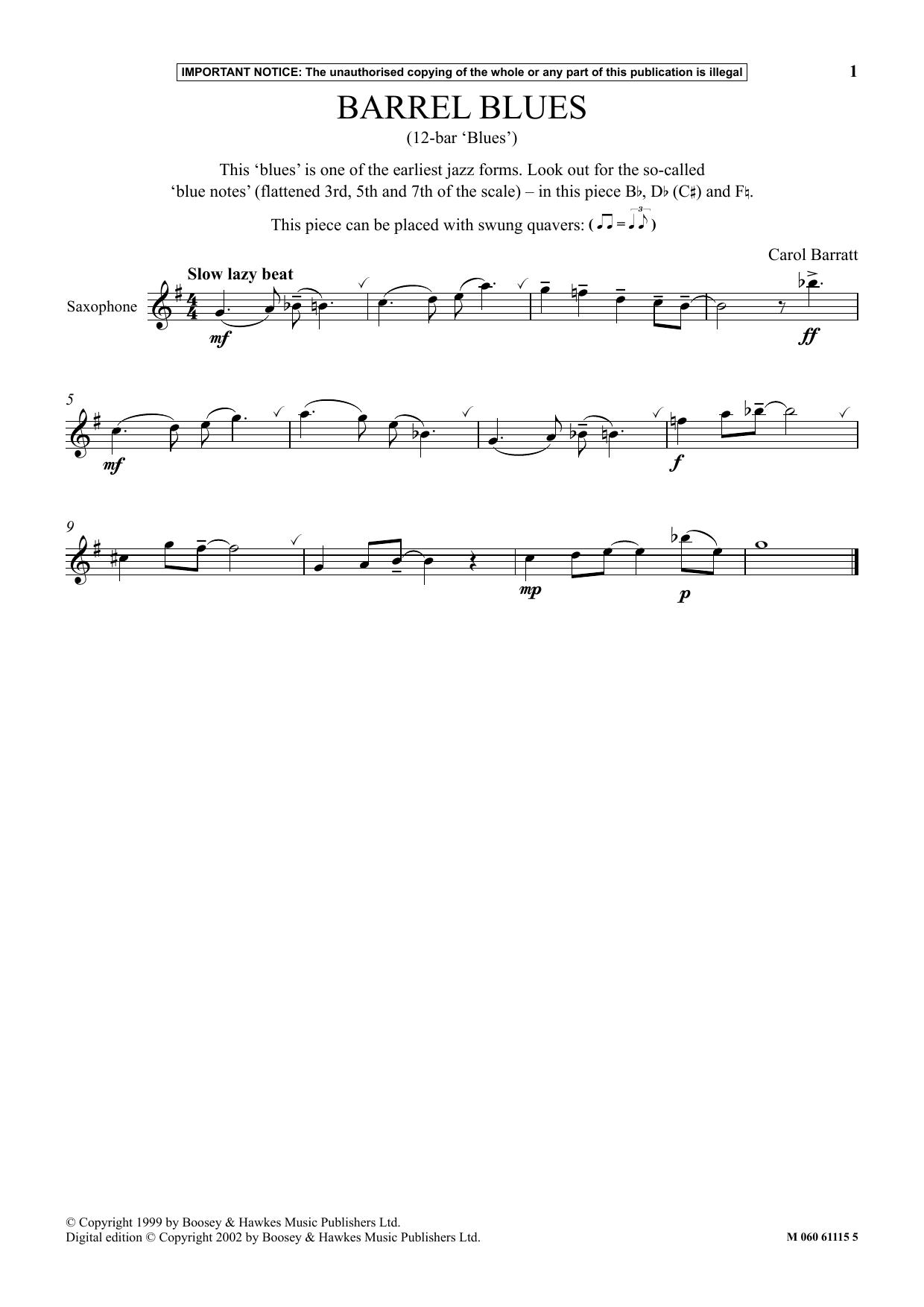 Barrel Blues Sheet Music