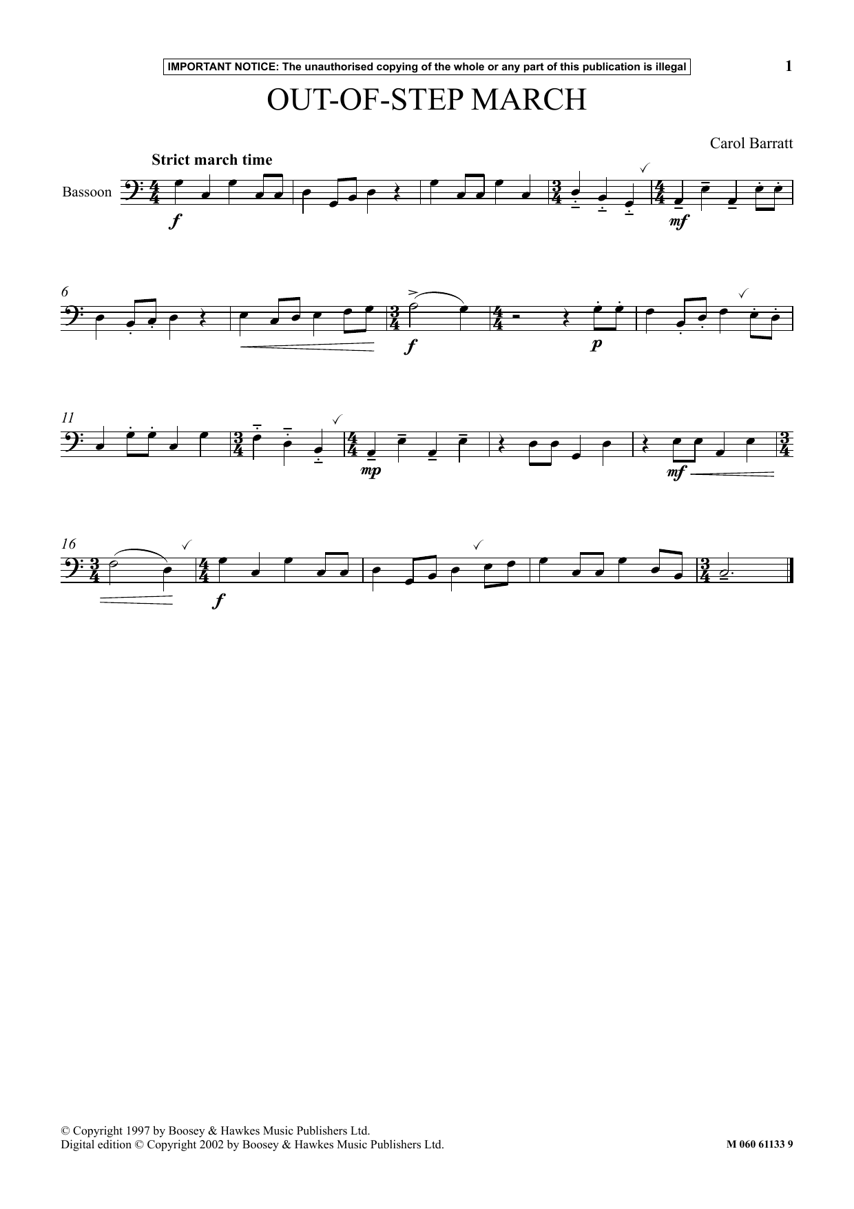 Out Of Step March (Instrumental Solo)