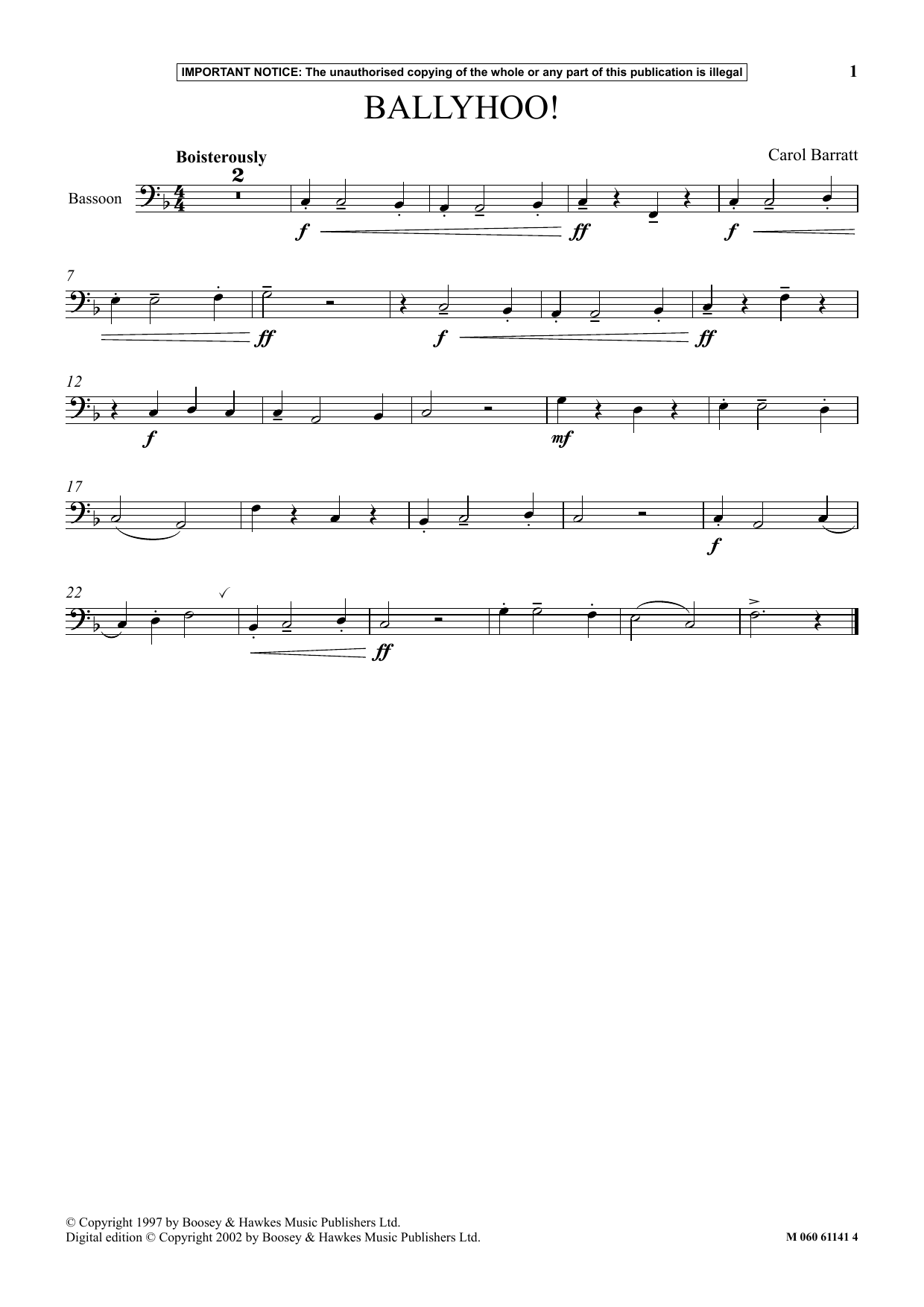 Ballyhoo! Sheet Music
