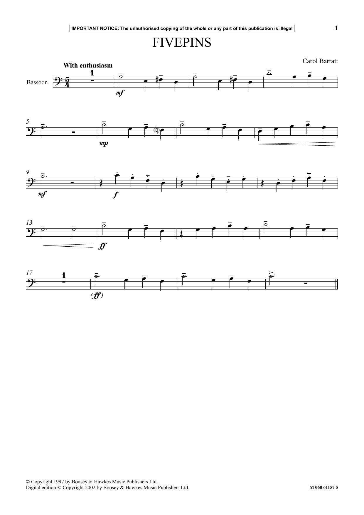 Fivepins Sheet Music